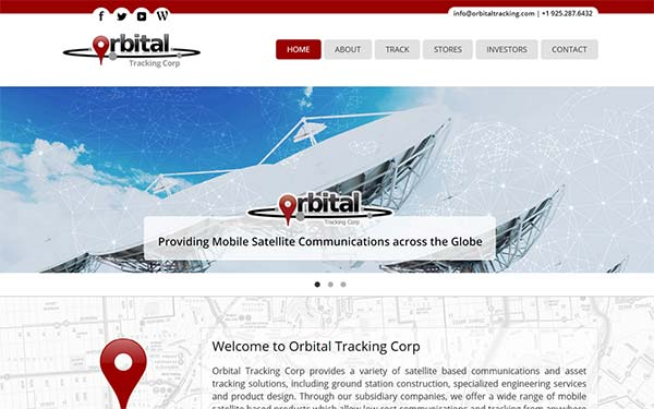 Orbital Tracking Web Design & SEO in Cornwall