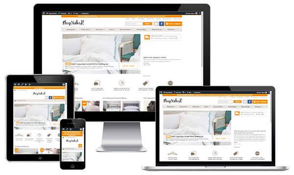 Mobile Friendly eCommerce Web Design - Sleep Naked!