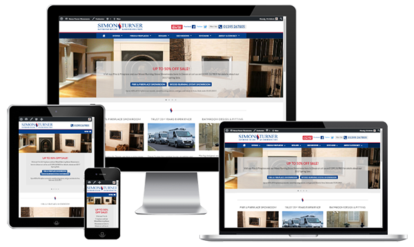 Mobile Friendly Web Design - Simon Turner Showrooms