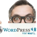 Watch out for the text widget update in WordPress 4.8!